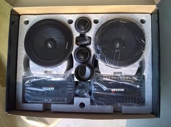 大众朗逸音响改装先锋970主机升级美国k牌主动两分频