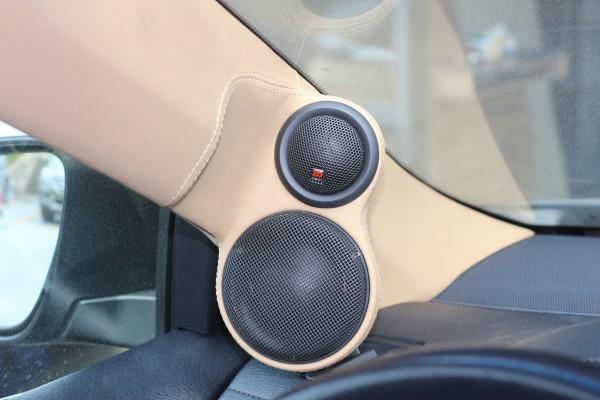 丰田凯美瑞汽车音响改装摩雷优特声主动三分频音响系统 先锋80prs